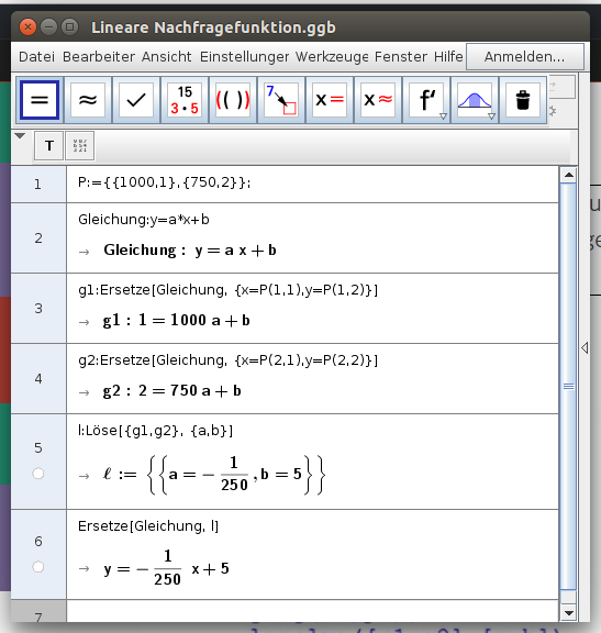 Bildschirmfoto-Lineare Nachfragefunktion.ggb