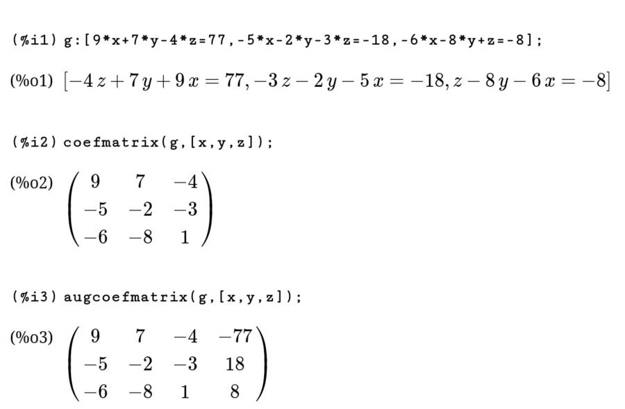 koeffizientenmatrix
