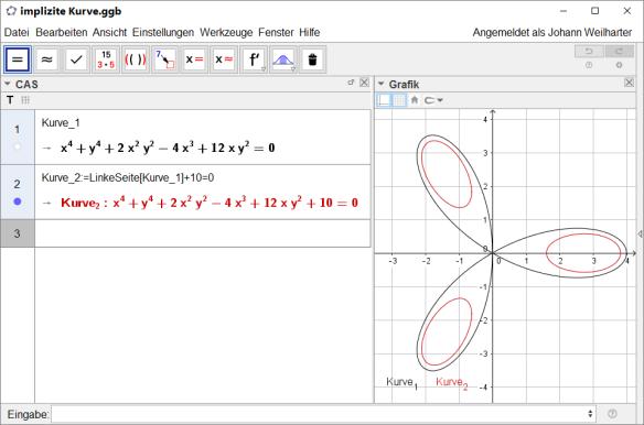 Implizite Kurven   Mathematik mit CAS Maxima und Geogebra